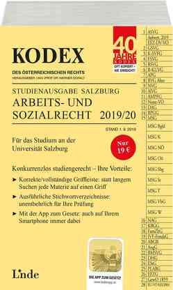KODEX Studienausgabe Arbeits- und Sozialrecht 2019/20 von Doralt,  Werner