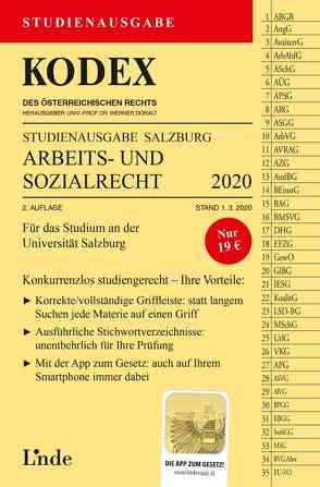 KODEX Studienausgabe Arbeits- und Sozialrecht 2020/21 von Doralt,  Werner