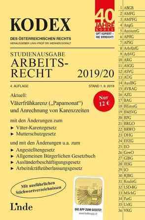 KODEX Studienausgabe Arbeitsrecht 2019/20 von Doralt,  Werner, Ercher-Lederer,  Gerda, Stech,  Edda