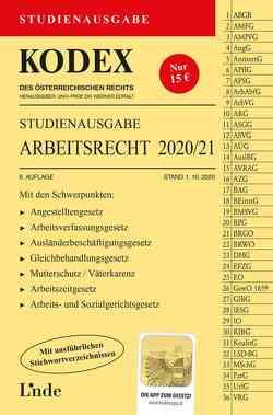 KODEX Studienausgabe Arbeitsrecht 2020/21 von Doralt,  Werner, Ercher-Lederer,  Gerda, Stech,  Edda