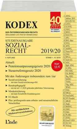 KODEX Studienausgabe Sozialrecht 2019/20 von Brameshuber,  Elisabeth, Doralt,  Werner