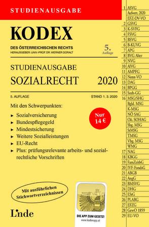 KODEX Studienausgabe Sozialrecht 2020 von Brameshuber,  Elisabeth, Doralt,  Werner