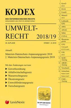 KODEX Umweltrecht 2018/19 von Doralt,  Werner, List,  Wolfgang