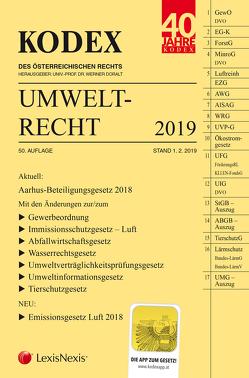 KODEX Umweltrecht 2019 von Doralt,  Werner, List,  Wolfgang