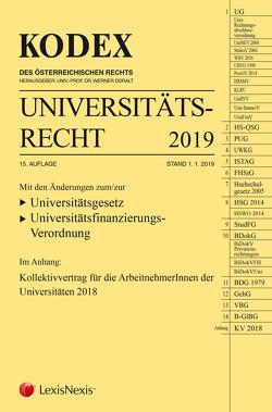 KODEX Universitätsrecht 2019 von Doralt,  Werner, Perle,  Christine