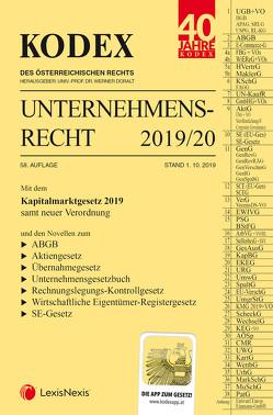 KODEX Unternehmensrecht 2019/20 von Doralt,  Werner, Weilinger,  Arthur