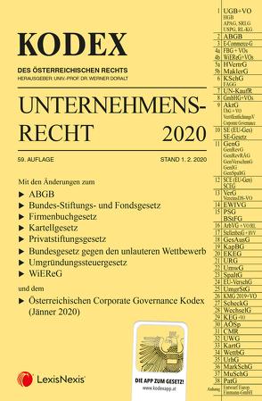 KODEX Unternehmensrecht 2020 von Doralt,  Werner, Weilinger,  Arthur