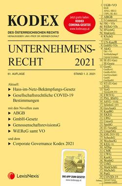 KODEX Unternehmensrecht 2021 von Doralt,  Werner, Weilinger,  Arthur