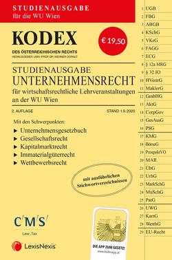 KODEX Unternehmensrecht für wirtschaftsrechtliche LVA 2020/21 von Doralt,  Werner