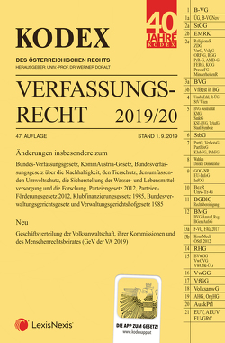 KODEX Verfassungsrecht 2019/20 von Doralt,  Werner, Lanner,  Christoph
