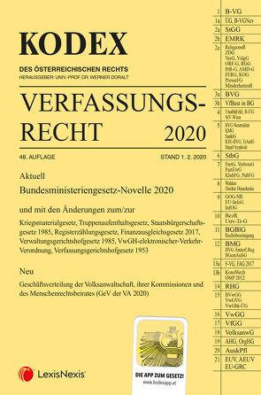 KODEX Verfassungsrecht 2020 von Doralt,  Werner, Lanner,  Christoph