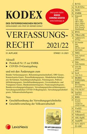 KODEX Verfassungsrecht 2021/22 – inkl. App von Doralt,  Werner, Lanner,  Christoph
