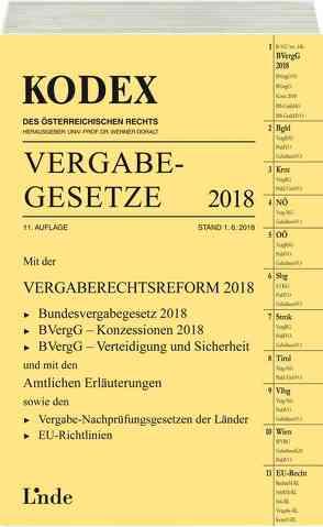 KODEX Vergabegesetze 2018 von Doralt,  Werner, Konetzky,  Georg