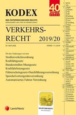KODEX Verkehrsrecht 2019/20 von Andre,  Peter, Doralt,  Werner