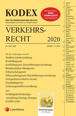 KODEX Verkehrsrecht 2020 von Andre,  Peter, Doralt,  Werner