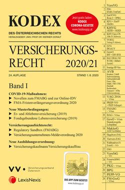 KODEX Versicherungsrecht Band I 2020/21 von Doralt,  Werner, Ramharter,  Martin
