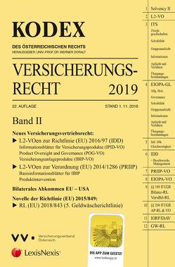 KODEX Versicherungsrecht Band II 2019 von Doralt,  Werner, Ramharter,  Martin