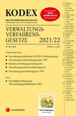KODEX Verwaltungsverfahrensgesetze (AVG) 2021/22 – inkl. App von Doralt,  Werner, Lanner,  Christoph