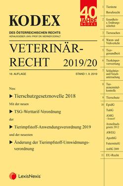 KODEX Veterinärrecht 2019 von Doralt,  Werner, Oberleitner-Tschan,  Christine