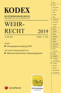 KODEX Wehrrecht 2019 von Doralt,  Werner, Edlinger,  Andreas