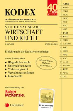 KODEX Wirtschaft und Recht 2019/20 von Doralt,  Werner