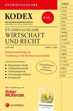 KODEX Wirtschaft und Recht 2020 von Doralt,  Werner