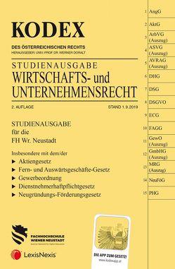 KODEX Wirtschafts- und Unternehmensrecht 2019/20 von Doralt,  Werner, Gamsjäger,  Patrycja
