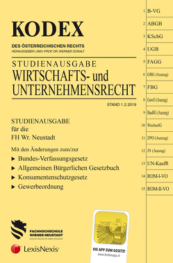KODEX Wirtschafts- und Unternehmensrecht von Doralt,  Werner, Gamsjäger,  Patrycja