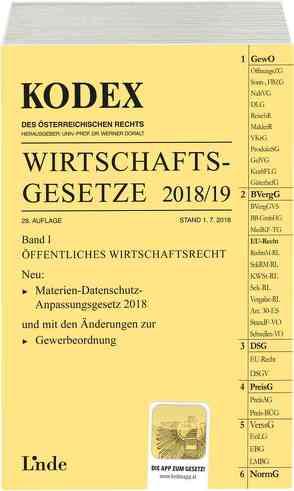 KODEX Wirtschaftsgesetze Band I 2018/19 von Doralt,  Werner, Konetzky,  Georg