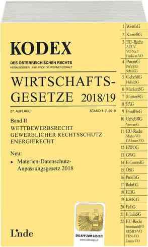 KODEX Wirtschaftsgesetze Band II 2018/19 von Doralt,  Werner, Konetzky,  Georg