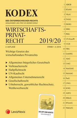 KODEX Wirtschaftsprivatrecht 2019/20 von Doralt,  Werner, Kodek,  Georg E.