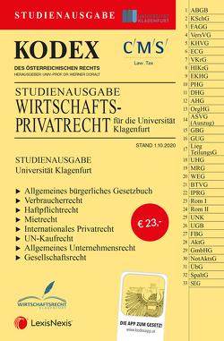 KODEX Wirtschaftsprivatrecht Klagenfurt von Doralt,  Werner, Riss,  Olaf