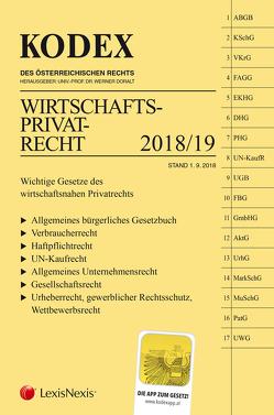 KODEX Wirtschaftsprivatrecht 2018/19 von Doralt,  Werner, Kodek,  Georg E.