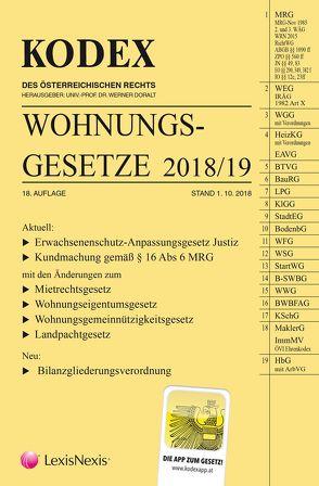 KODEX Wohnungsgesetze 2018 von Doralt,  Werner, Mohr,  Franz