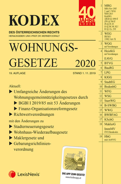 KODEX Wohnungsgesetze 2020 von Doralt,  Werner, Mohr,  Franz