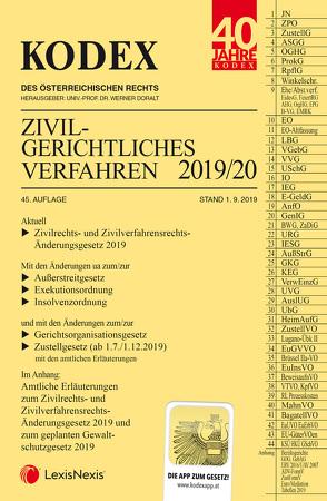 KODEX Zivilgerichtliches Verfahren 2019/20 von Doralt,  Werner, Stumvoll,  Heinrich