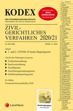 KODEX Zivilgerichtliches Verfahren 2020/21 von Doralt,  Werner, Stumvoll,  Heinrich