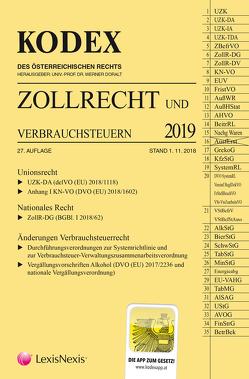 KODEX Zollrecht 2019 von Doralt,  Werner, Gabriel-Lang,  Brigitte, Leitgeb,  Brigitte