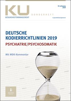 Kodierrichtlinien für die Psychiatrie/Psychosomatik 2019 von InEK Institut für das Entgeltsystem im Krankenhaus GmbH