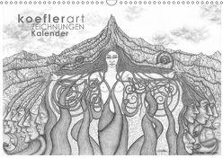 Koeflerart Zeichnungen Kalender (Wandkalender 2018 DIN A3 quer) von koeflerart