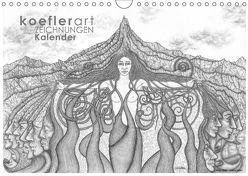 Koeflerart Zeichnungen Kalender (Wandkalender 2018 DIN A4 quer) von koeflerart