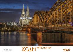 Köln 2020 Bildkalender A2 quer, spiralgebunden von Klaes,  Holger