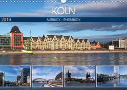 KÖLN AUSBLICK – RHEINBLICK (Wandkalender 2019 DIN A3 quer) von boeTtchEr,  U