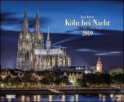 Köln bei Nacht 2019 – Wandkalender 52 x 42,5 cm – Spiralbindung von DUMONT Kalenderverlag, Korte,  Jens
