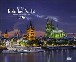 Köln bei Nacht 2020 – Wandkalender 52 x 42,5 cm – Spiralbindung von DUMONT Kalenderverlag, Korte,  Jens