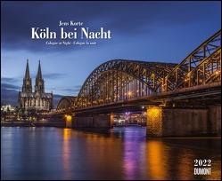 Köln bei Nacht 2022 – Wandkalender 52 x 42,5 cm – Spiralbindung von Korte,  Jens
