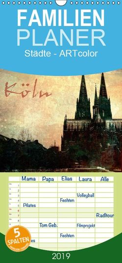 Köln – Familienplaner hoch (Wandkalender 2019 , 21 cm x 45 cm, hoch) von Siebenhühner,  Gabi