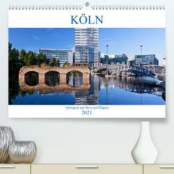 KÖLN – Metropole mit Herz und Flügeln (Premium, hochwertiger DIN A2 Wandkalender 2021, Kunstdruck in Hochglanz) von boeTtchEr,  U