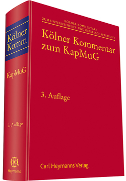 Kölner Kommentar zum KapMuG von Hess,  Burkhard, Reuschle,  Fabian, Rimmelspacher,  Bruno