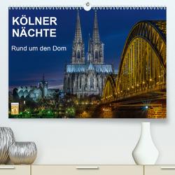 Kölner Nächte. Rund um den Dom. (Premium, hochwertiger DIN A2 Wandkalender 2021, Kunstdruck in Hochglanz) von Seethaler,  Thomas
